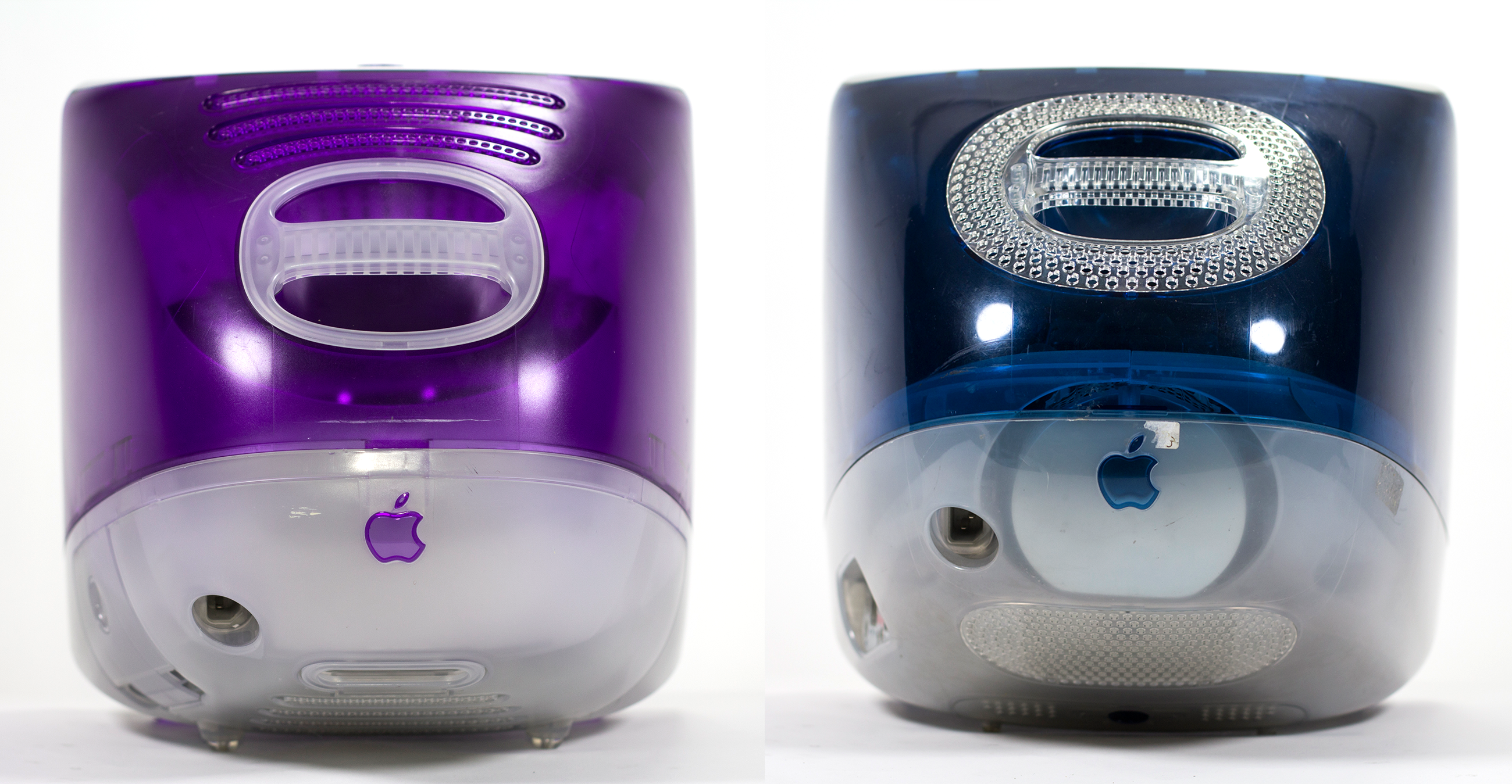 Grape and Indigo iMacs