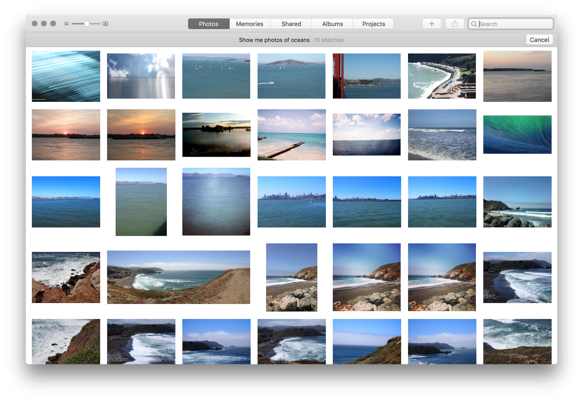 Oceans in Photos.app