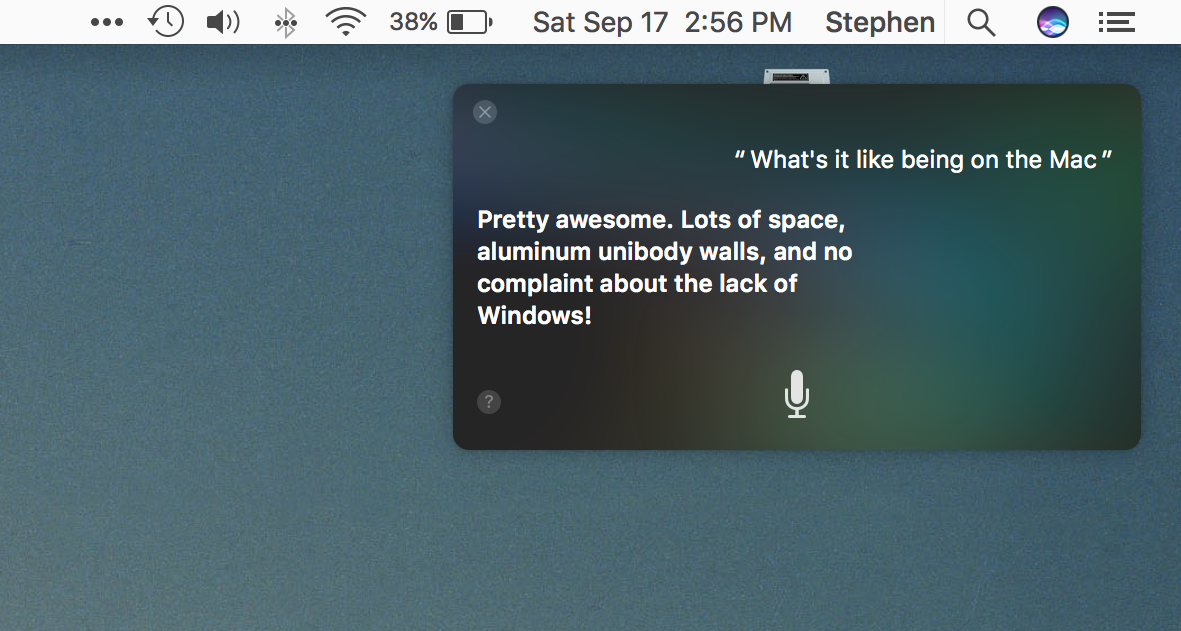 Siri on the Mac