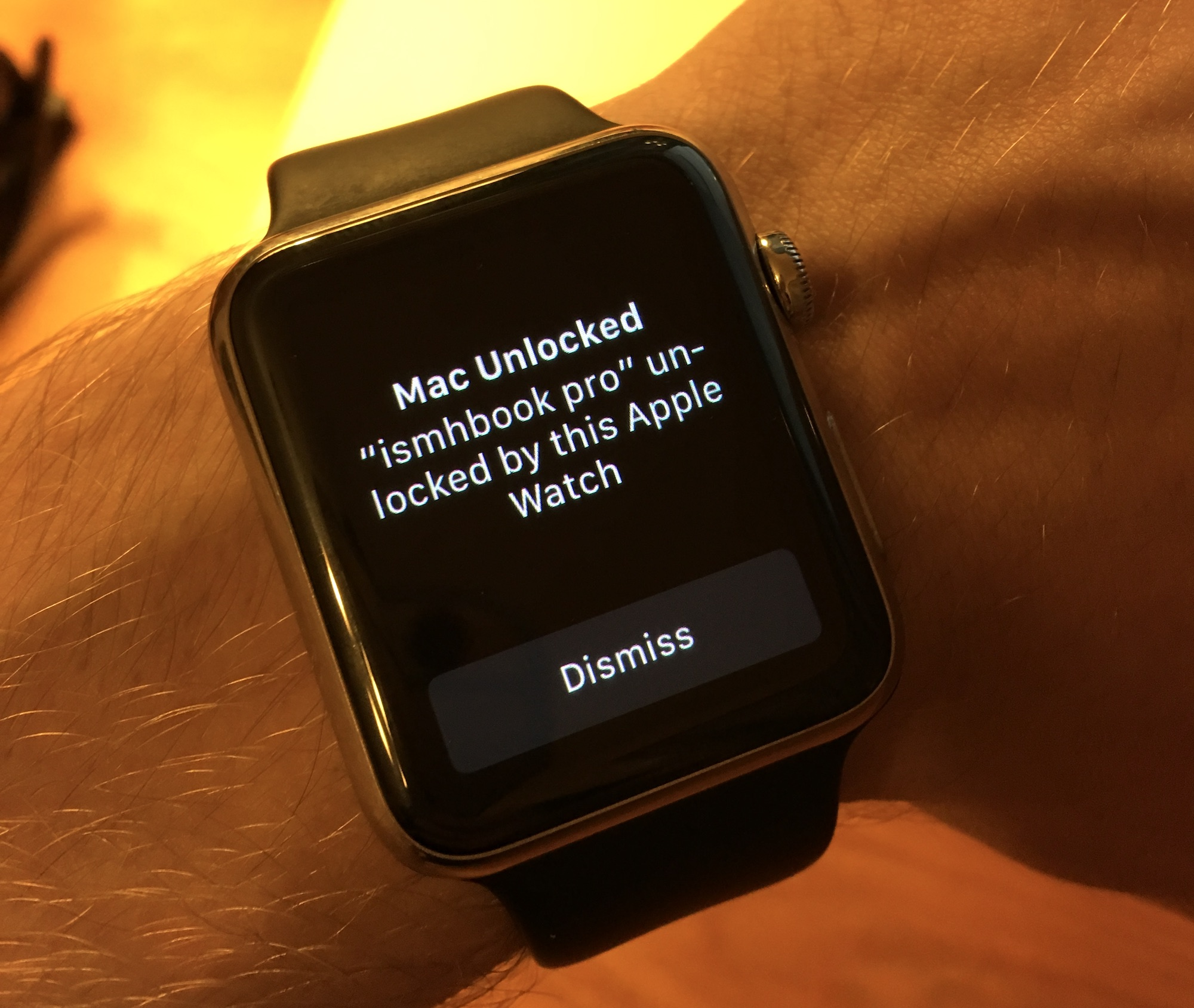 Apple Watch after unlock