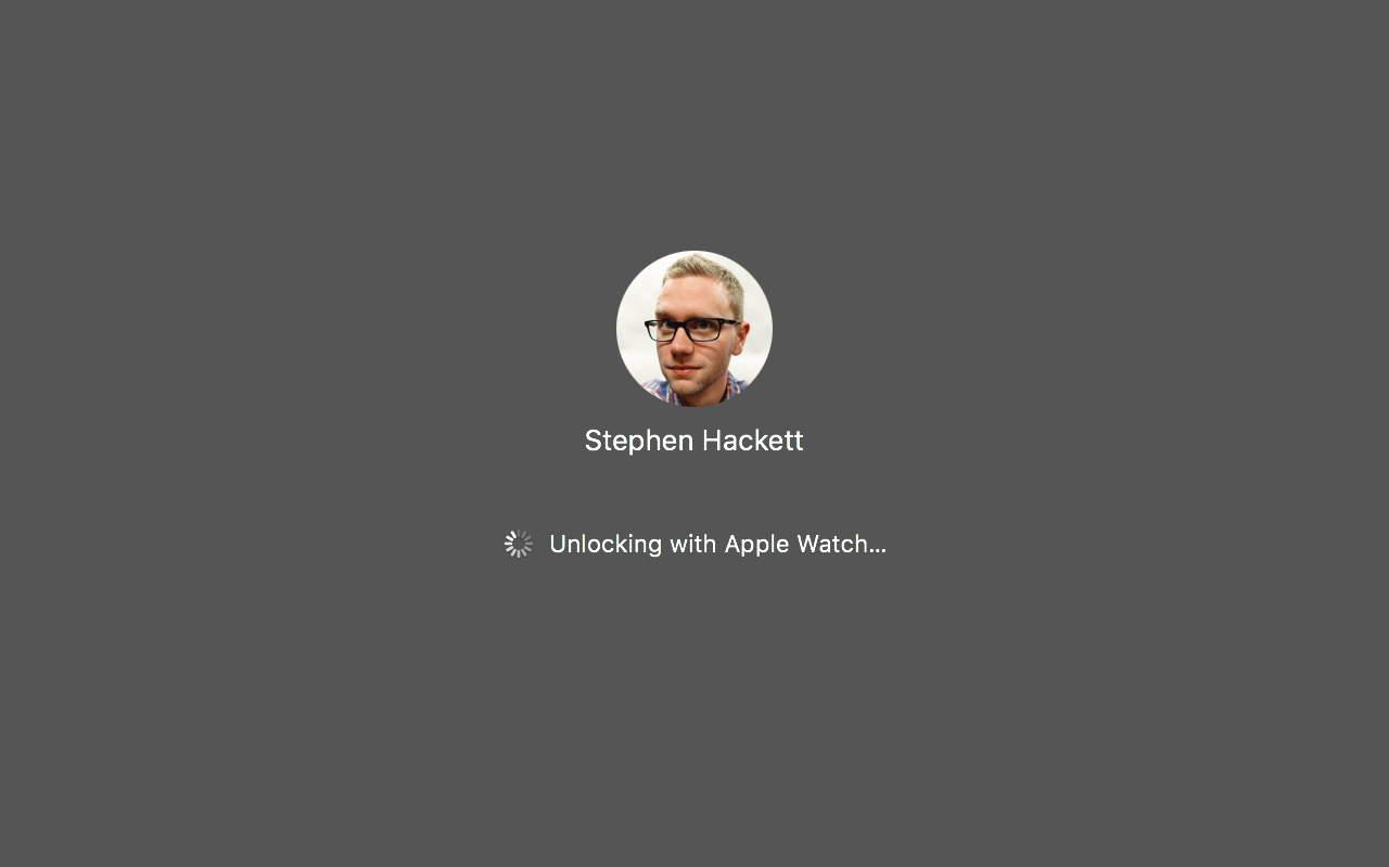 Unlocking with Apple Watch