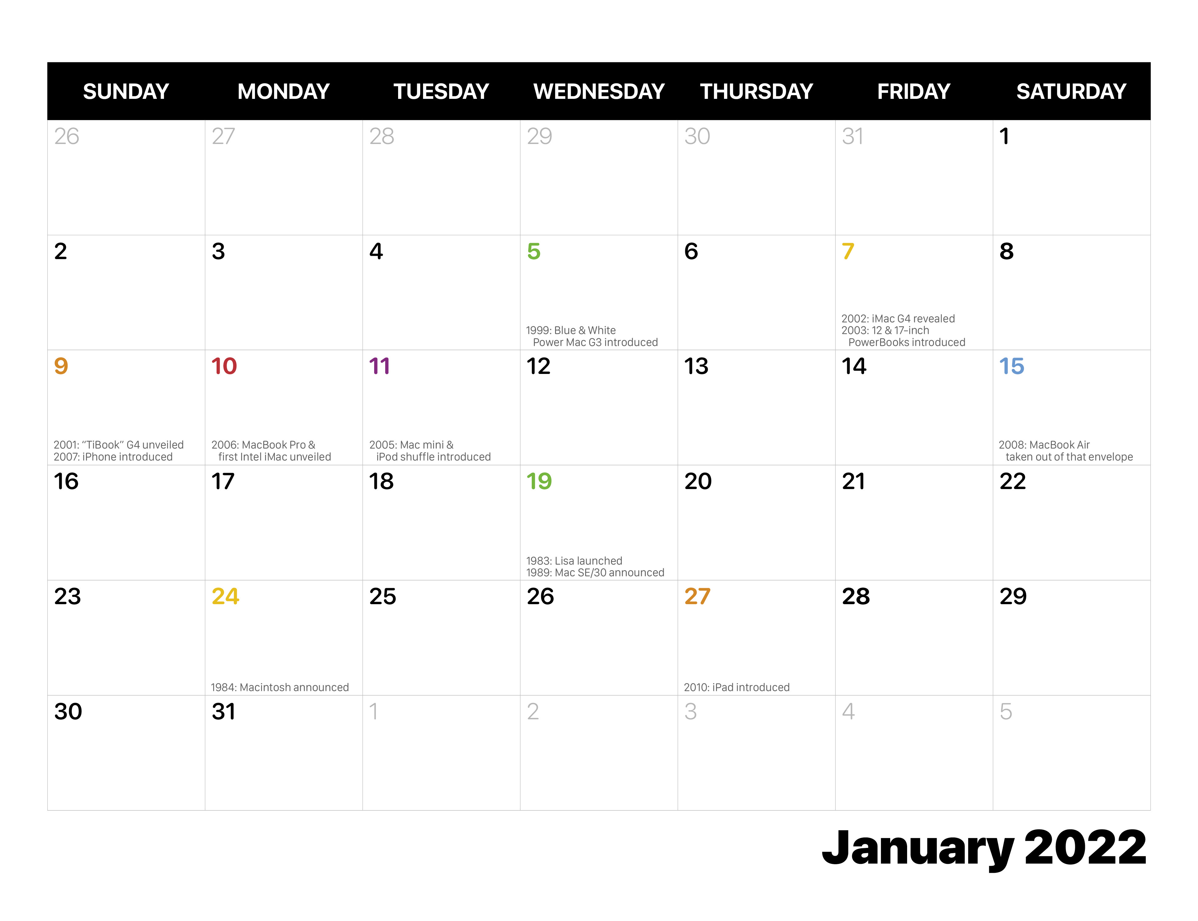January 2022