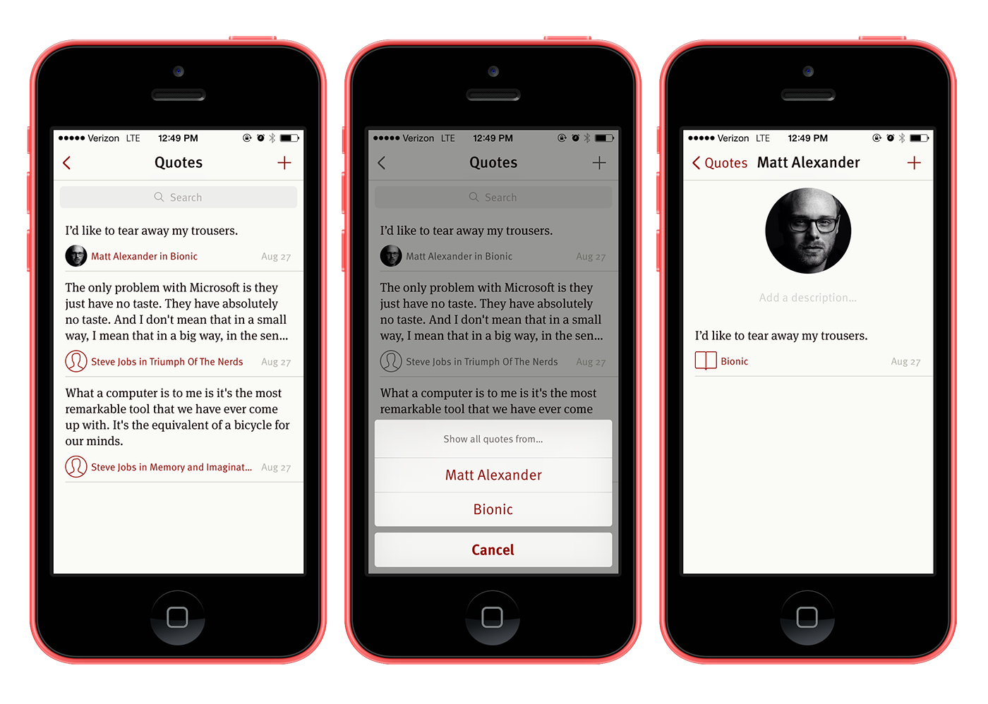 Quotebook 3 for iPhone