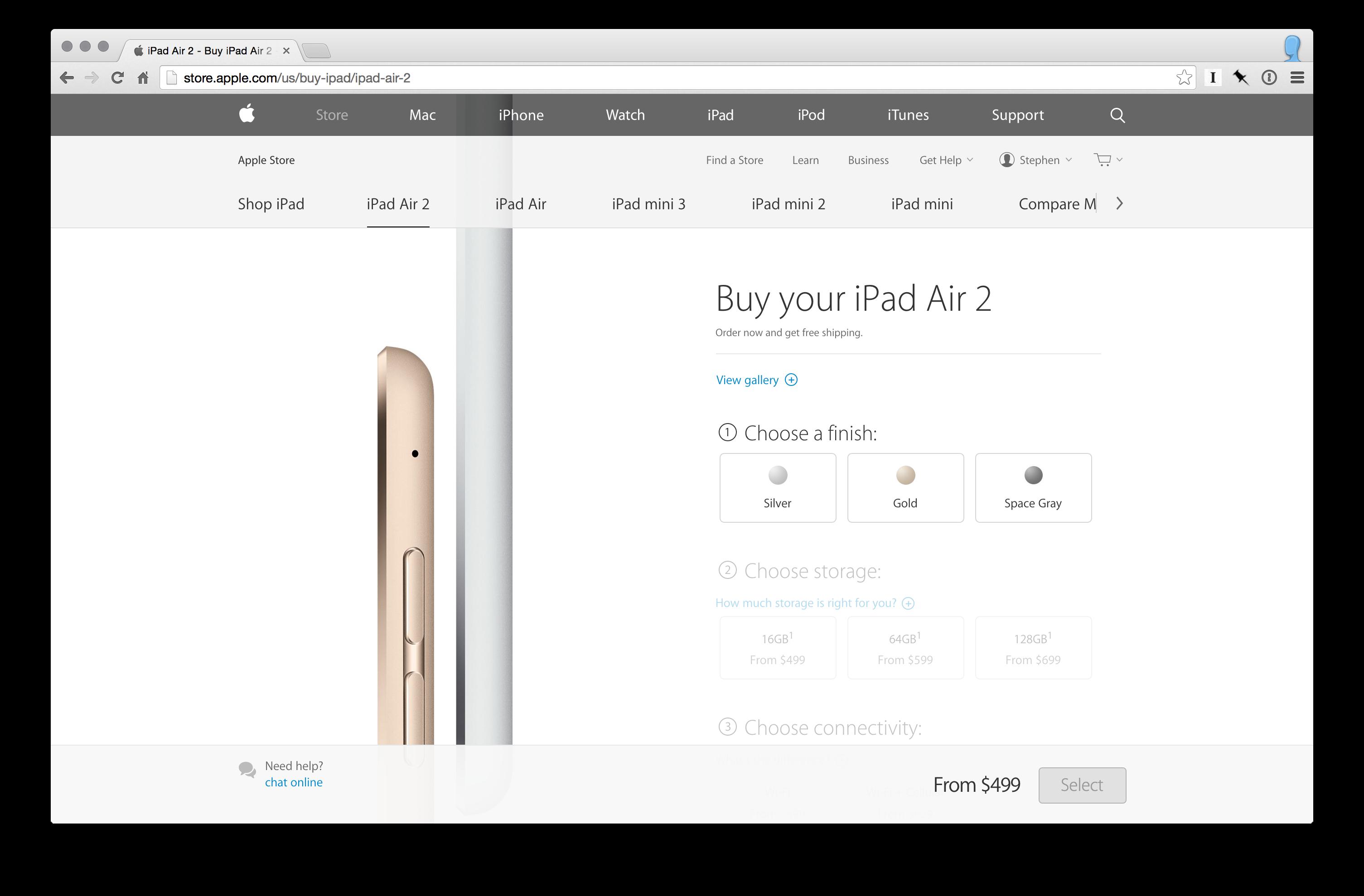 iPad Air ordering