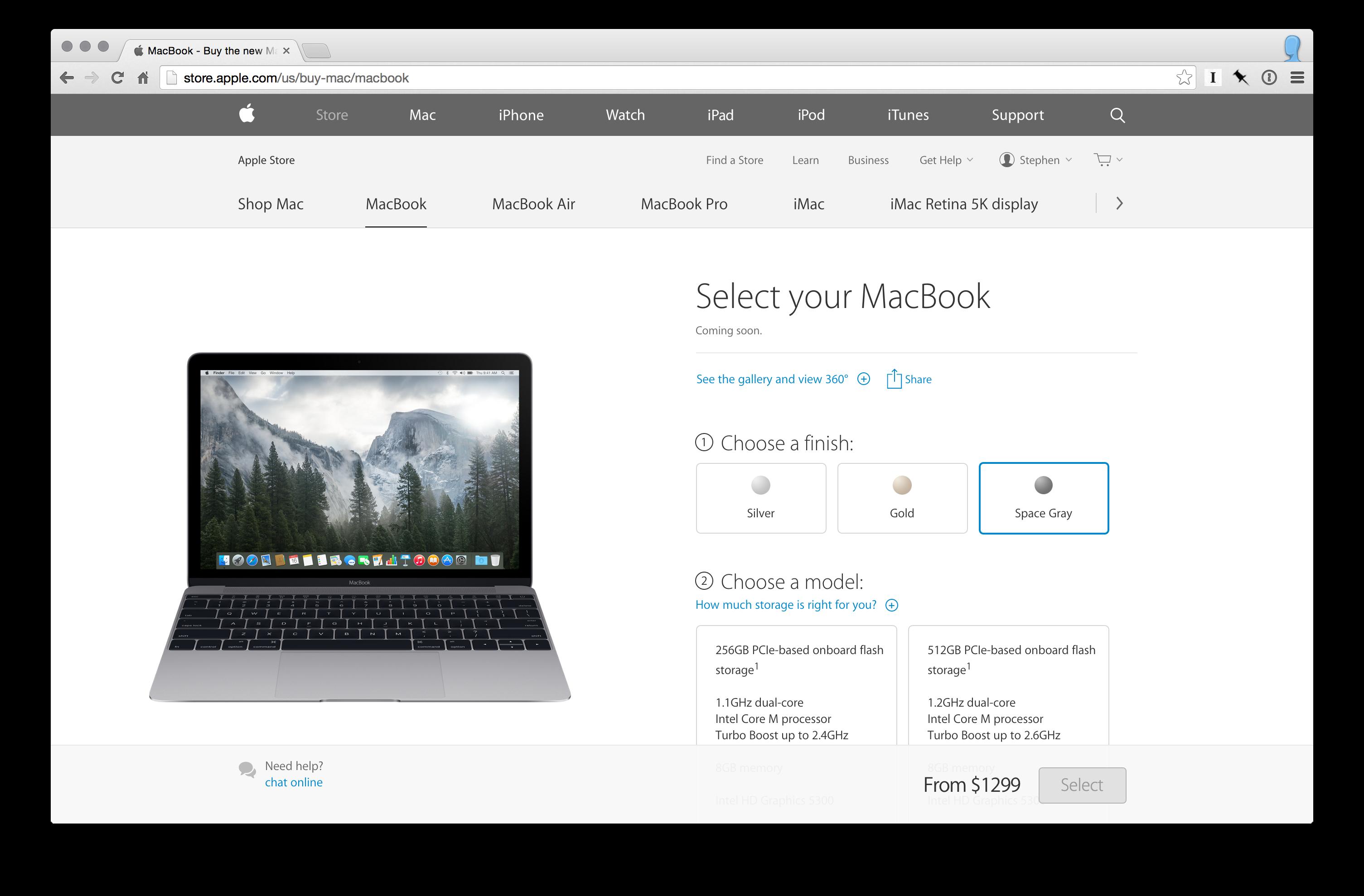 MacBook ordering