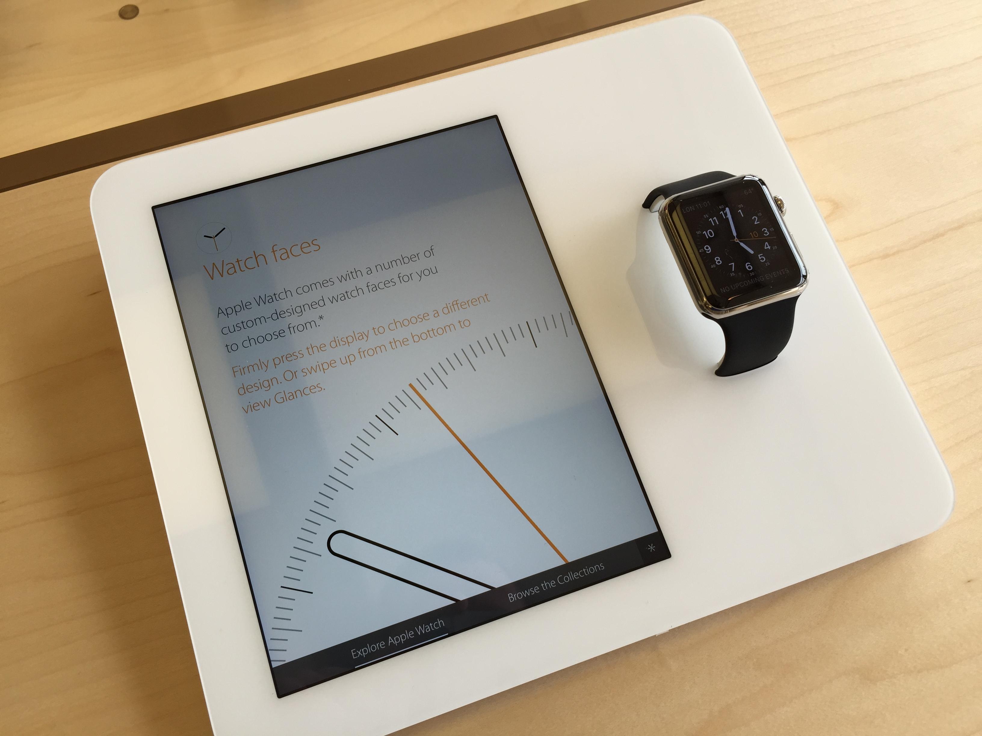 Apple Watch display